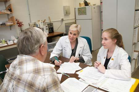 photo of a research participant interview